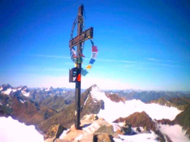 Summit with Schrankogel in...