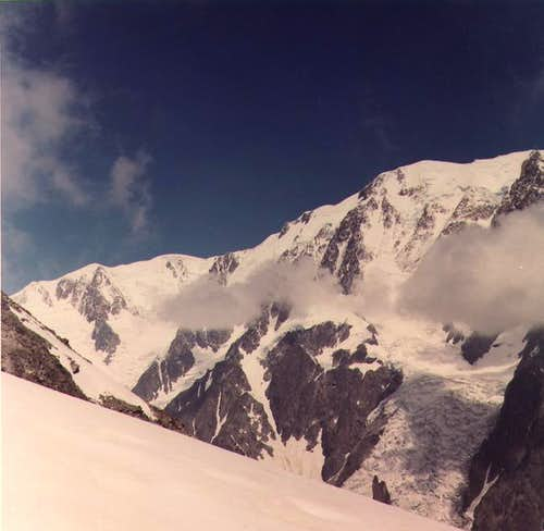 monte bianco side ovest from...