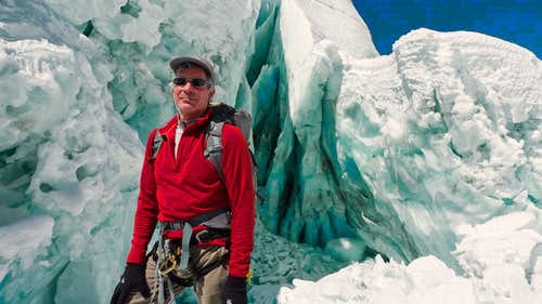 David Breashears in the Khumbu Icefall.