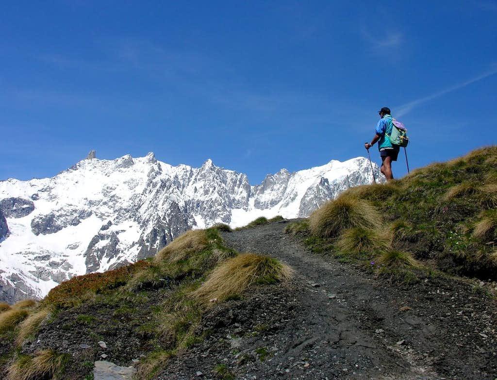 MONT de la SAXE (2348m) from Ferret Valley