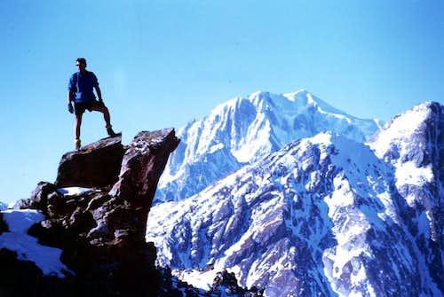 PUNTA VALLETTA of VERTSAN (2801m) near the SUMMIT and MOUNT BLANC
