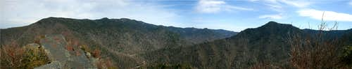 Chimney Tops Pano View