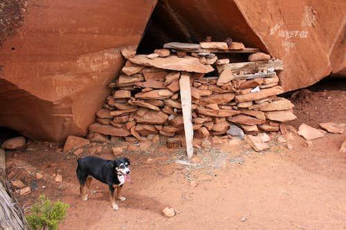 Primitive Stone Shelter