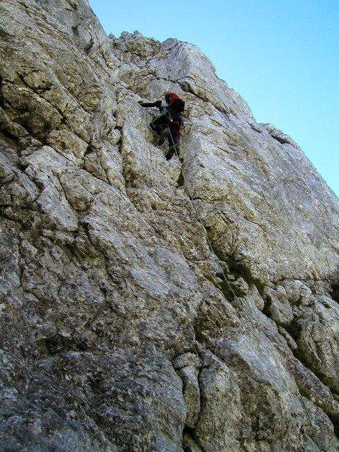 Climbing in Rusica on the...