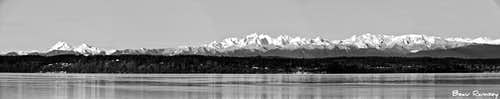 Olympic Mountains Pano