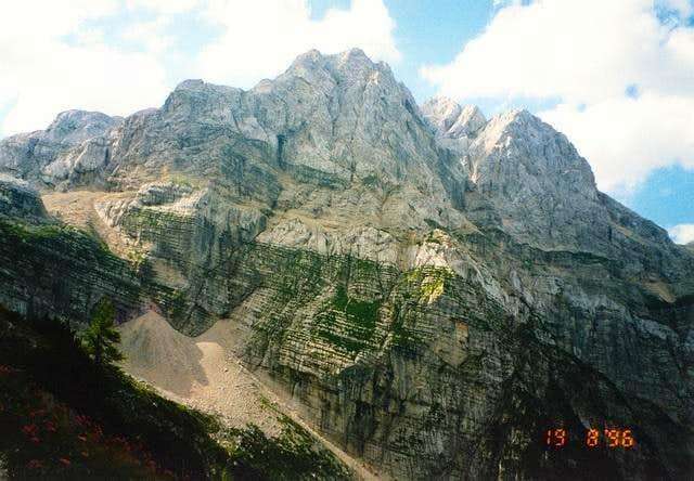 Kanjavec (2568m) and its...