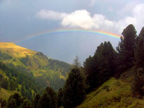 Rainbow over the Dolomites