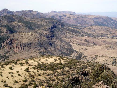 North across Rattlesnake Canyon