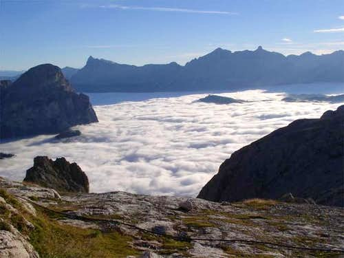 The morning view from Rifugio...