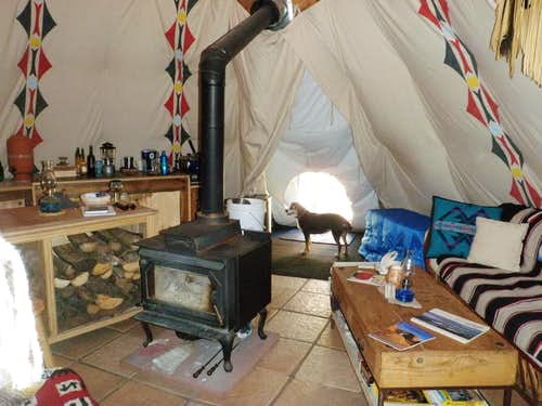 More inside the tipi