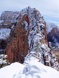 Two Climbers On Angels Landing
