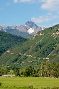 Sneffels from outside Ouray....