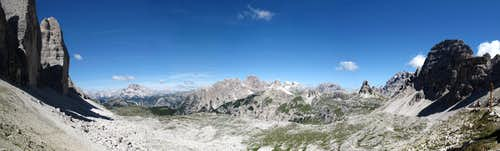 View from lavaredo pass