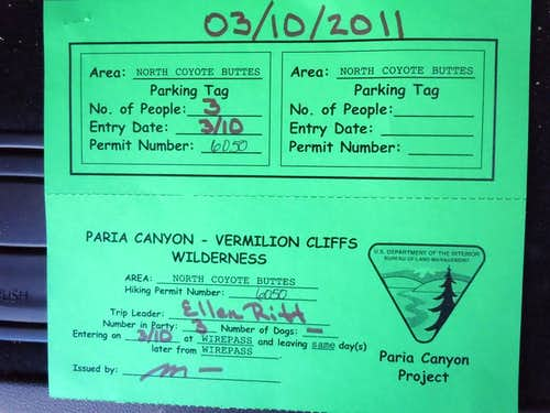 Permit for The Wave
