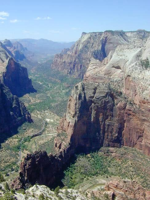 Angel's Landing and lower...