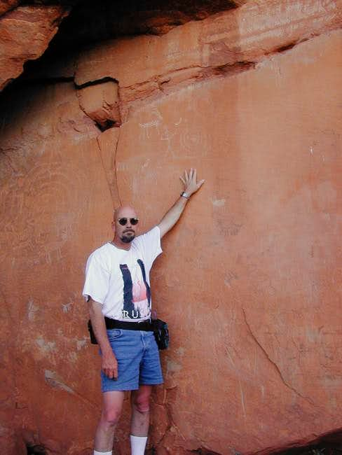 Me at petroglyphs on the...