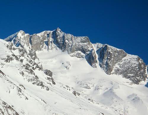 The Hochalmspitze (3360m) in winter