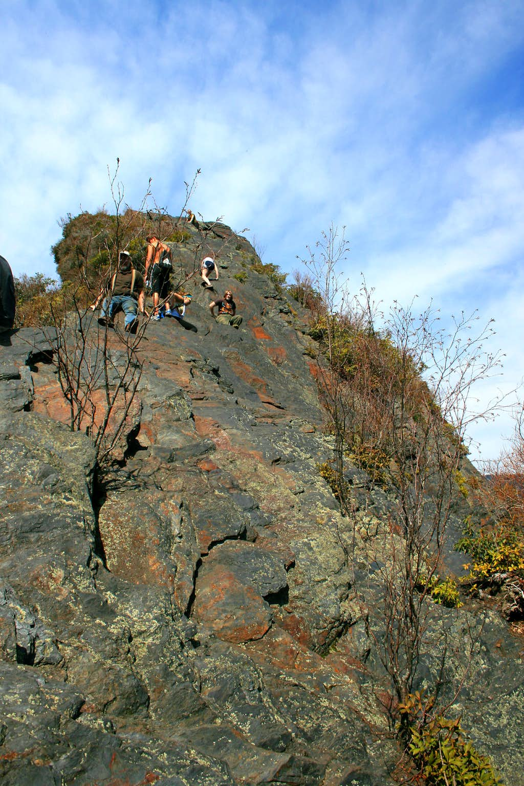 Chimney Tops Scramble Route