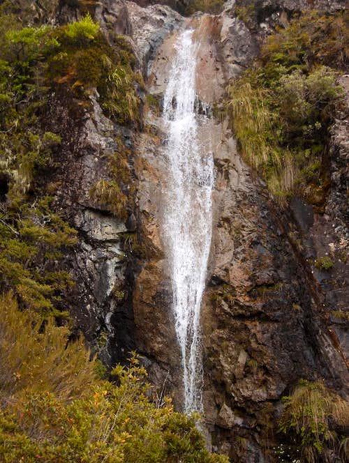 Waterfall along Avalanche Peak track