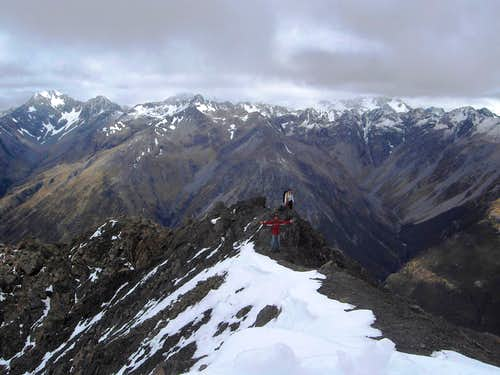 The last bit to the summit of Avalanche Peak