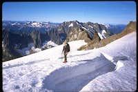 Crossing the Sahale glacier....
