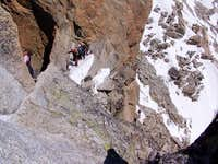 The abseil section on the...