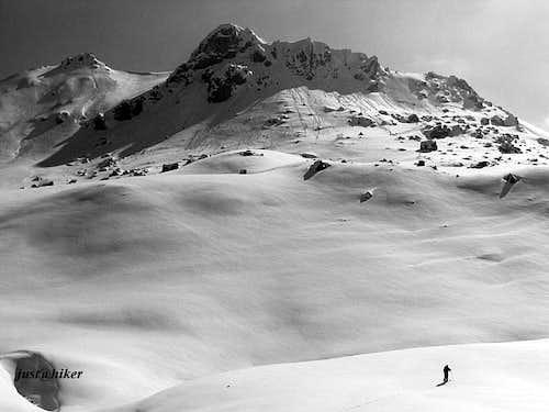 Tour skiing on Visocica mountain