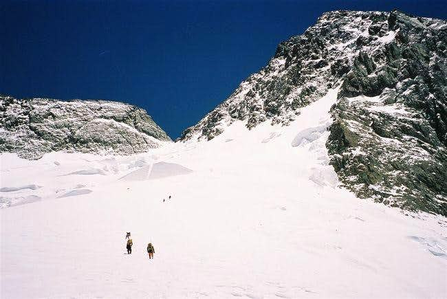 Heading up to the Col on the...