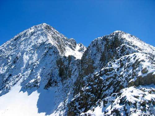 The NW ridge of Wilson Peak-...