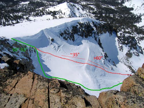 Pyramid Couloir in Apr 2011