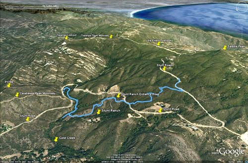 Stunt High Trail - Google Earth