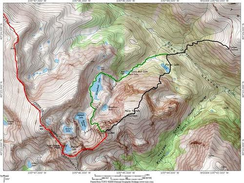 Routes on Mount Julian ....