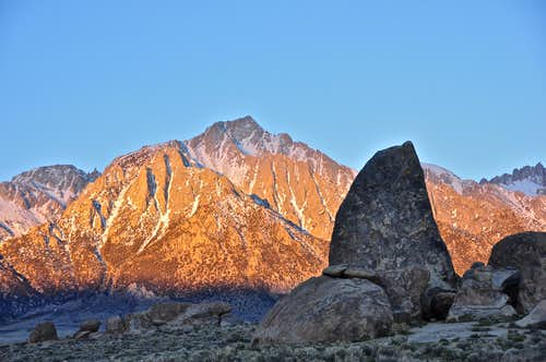 Shark's Fin and Lone Pine Peak