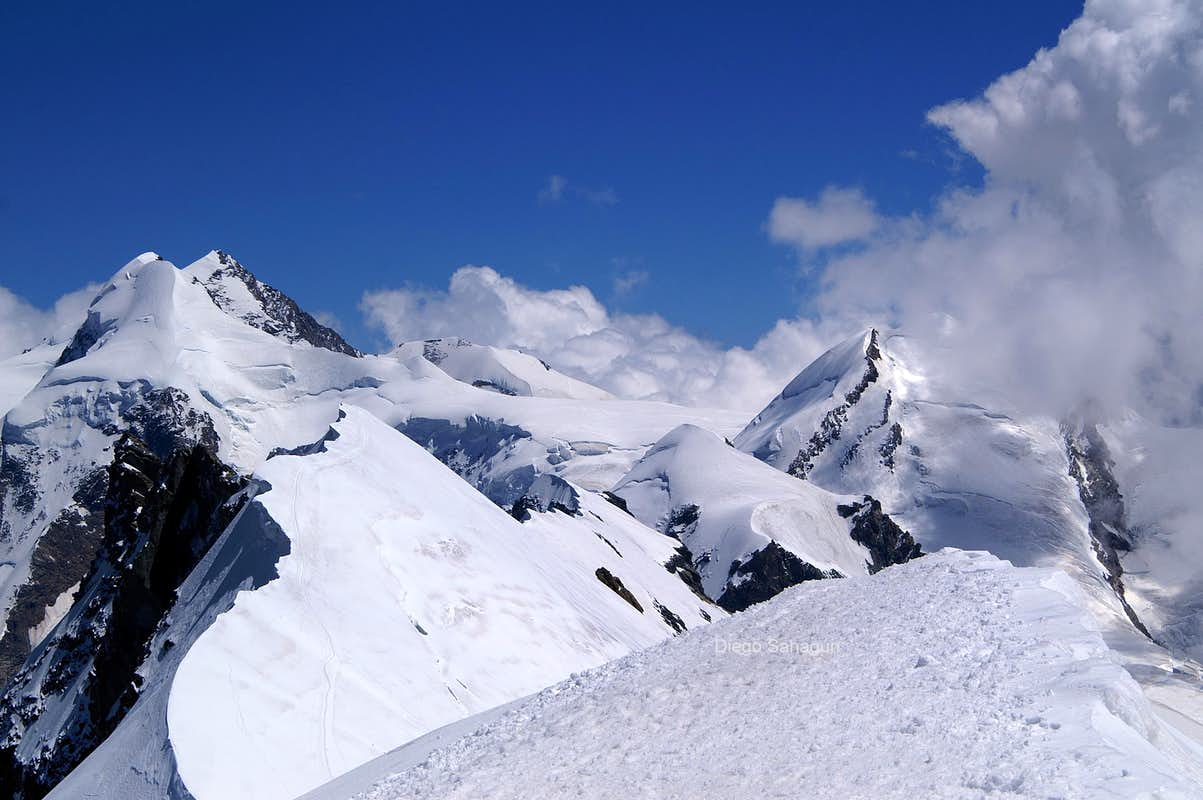 View from Breithorn top to the east-southeast
