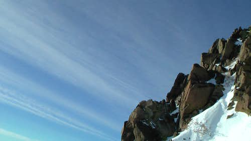 Side of the Rime Chute on the First Headwall on Mt. Rose