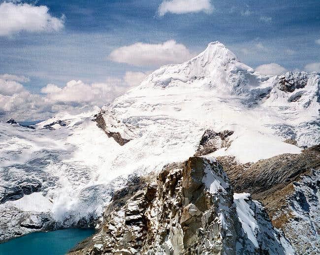 Tocllaraju from summit of...