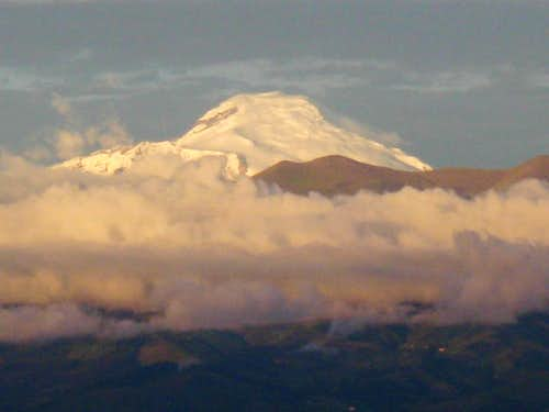 Sunset on Cayambe