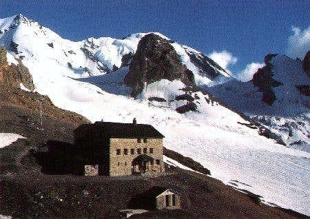 The Bluemlisalp-Hut in early...