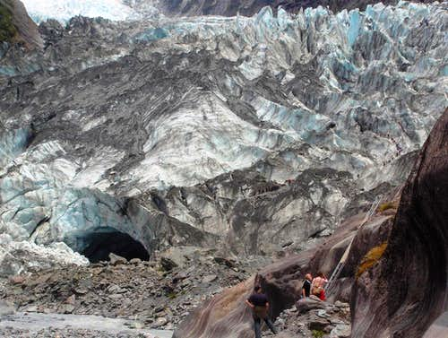 The snout of Franz Jozef Glacier