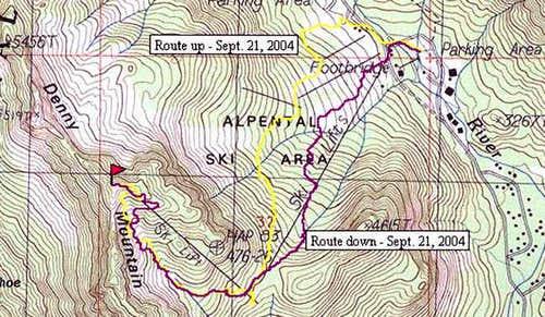 Topo with GPS track of route...