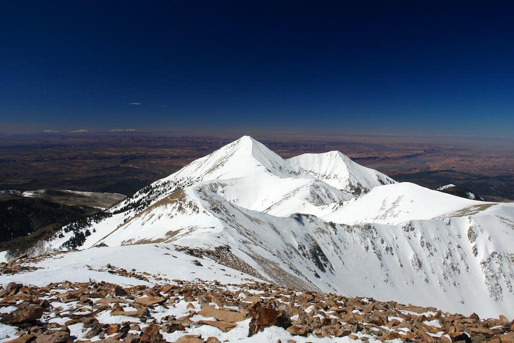 Mount Peale: summit view west