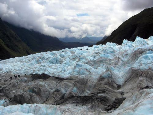 Lots of people on Franz Jozef Glacier