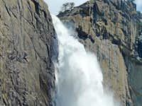 Upper Yosemite Falls crashing down