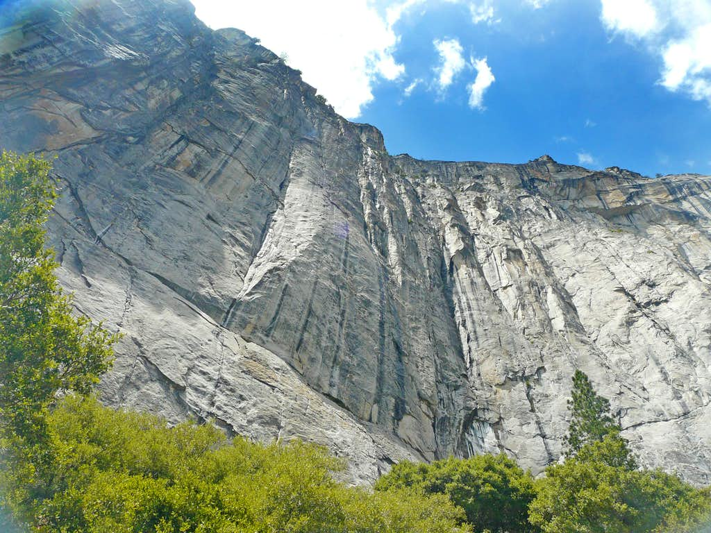 South wall above Yosemite Falls Trail