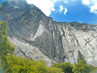 South wall above Yosemite Falls Trail