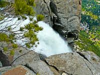 Yosemite Falls plunging over the  north rim