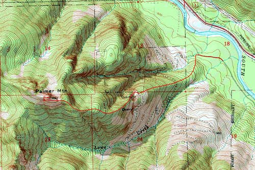 Topo Map of Palmer Mountain
