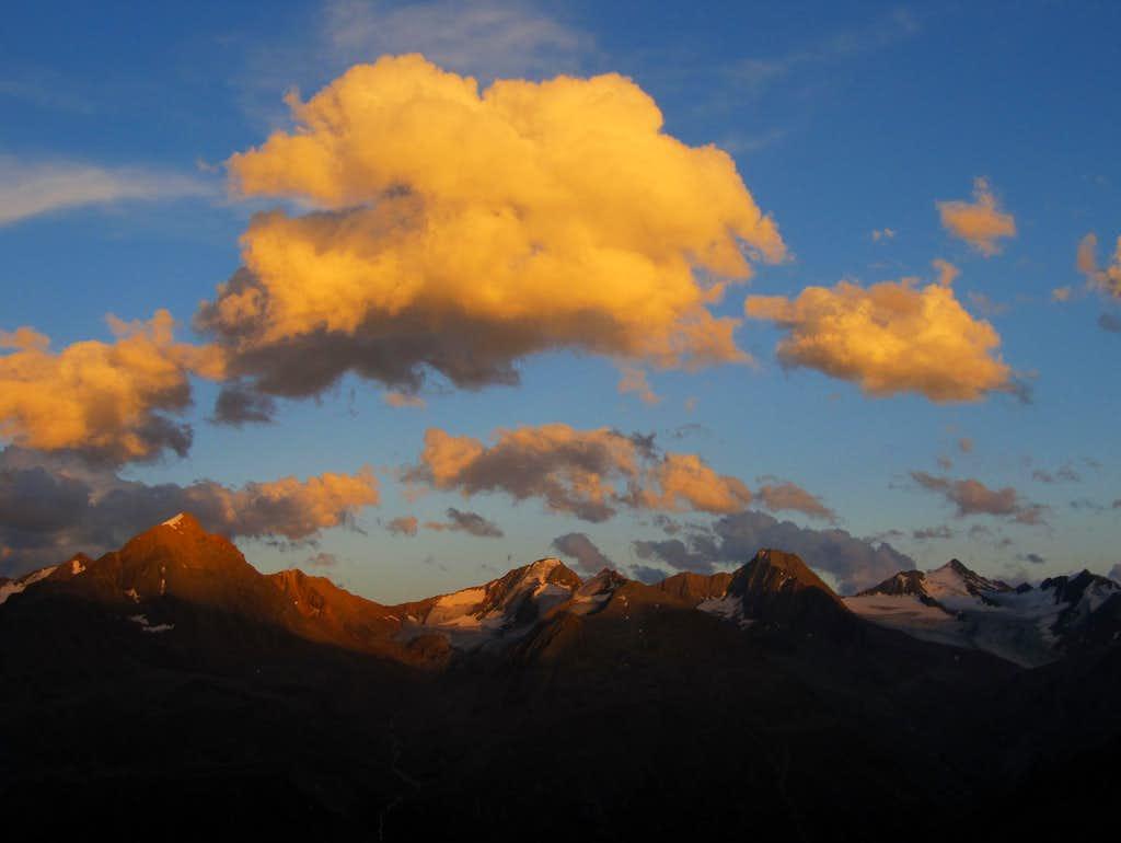 Otztal Main Ridge Alpenglow