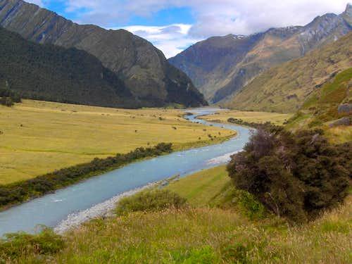 Matukituki River valley, west branch
