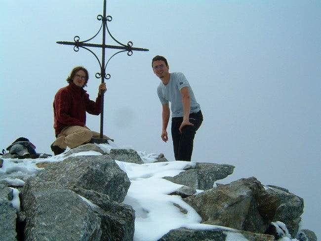 The cross on top with Remo...